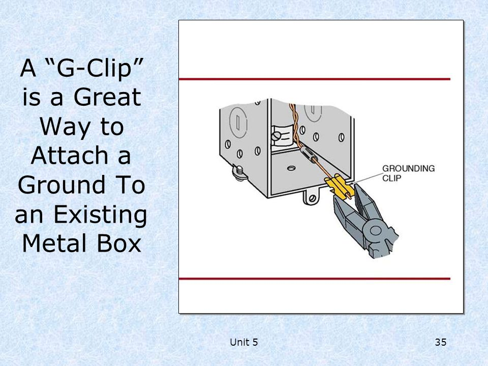 A G-Clip is a Great Way to Attach a Ground To an Existing Metal Box