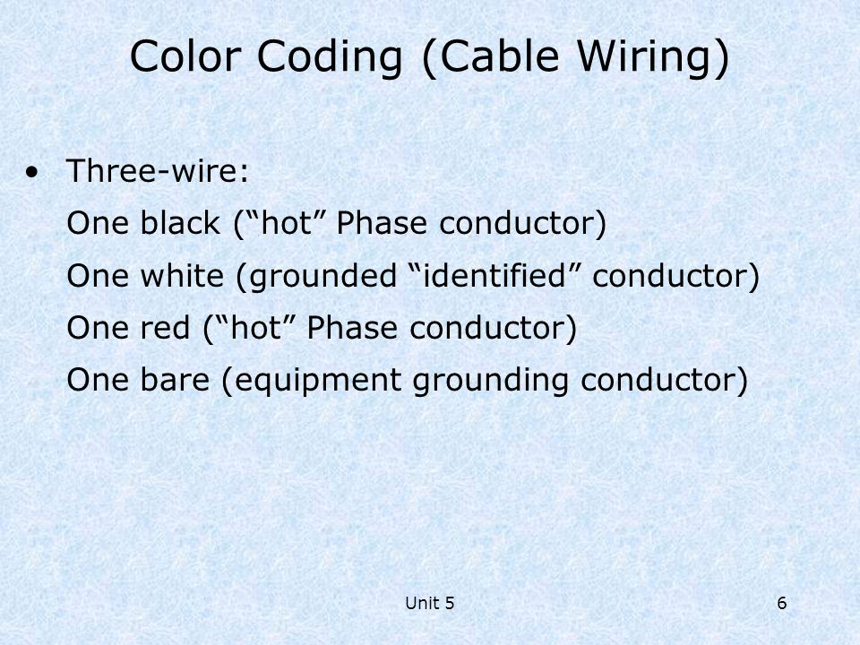 Color Coding (Cable Wiring)