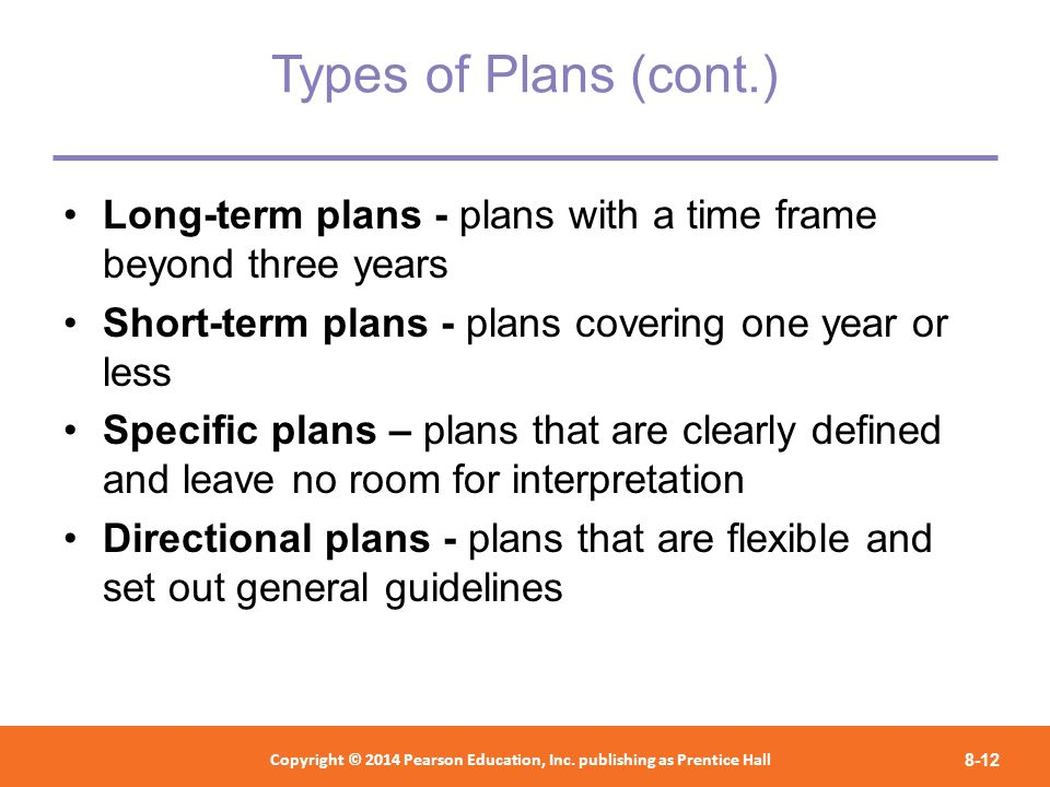 Short Term Plan : Chapter foundations of planning ppt download