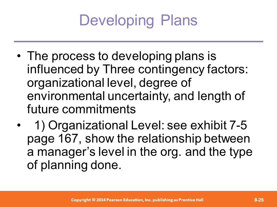 contingency factors affecting planning The contingency theory focuses on specific situational factors that can affect the direct relationships between independent and dependent.