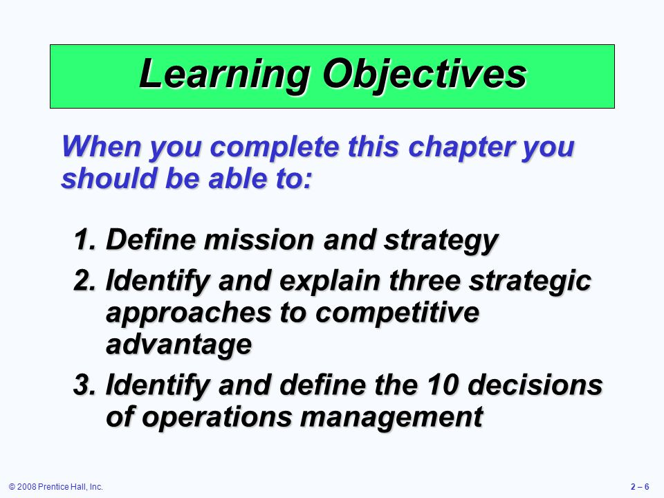 10 critical decisions of operations management pdf