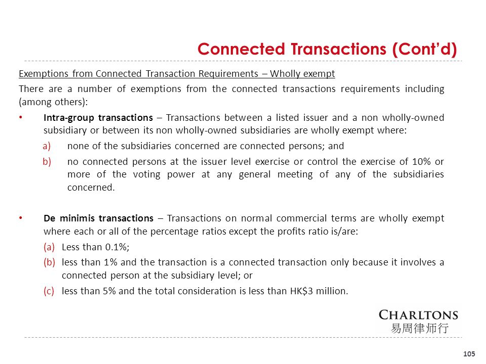 Connected Transactions (Cont'd)