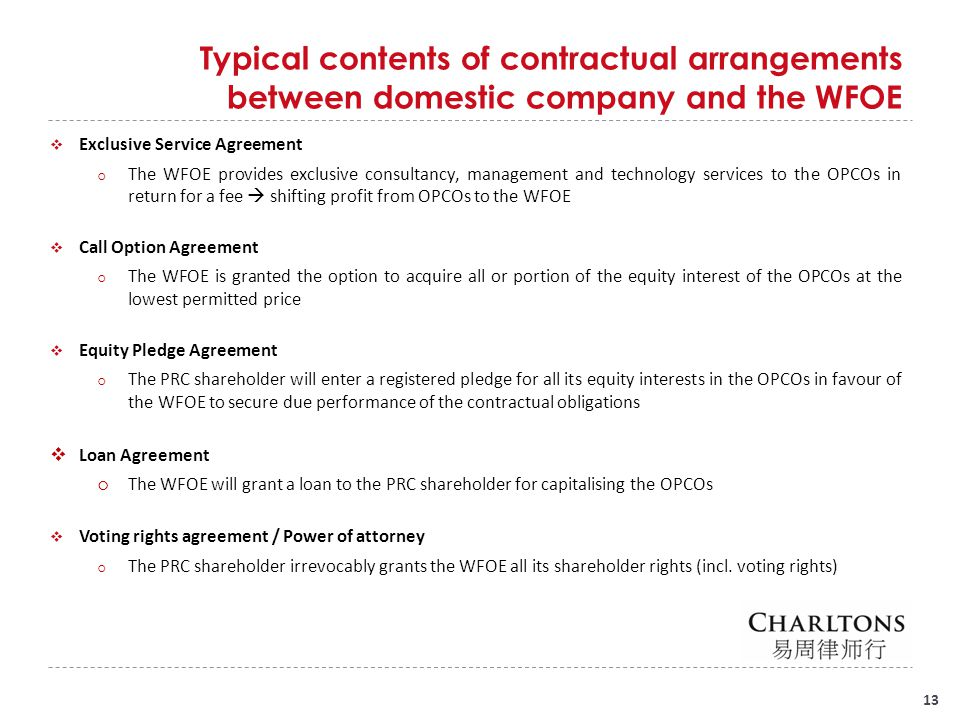 Risks involved Regulatory risk of structure being declared invalid by PRC authorities: