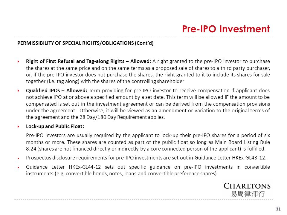 Pre-IPO Investment Pre-IPO Investment in Convertible Instruments