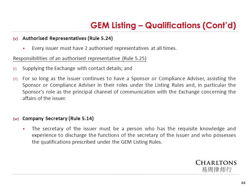 GEM Listing Division GEM Listing Division