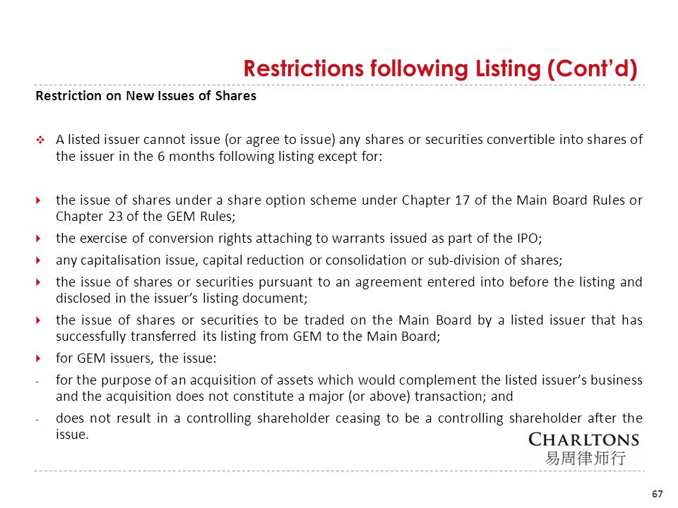 Continuing Obligations of Listed Companies