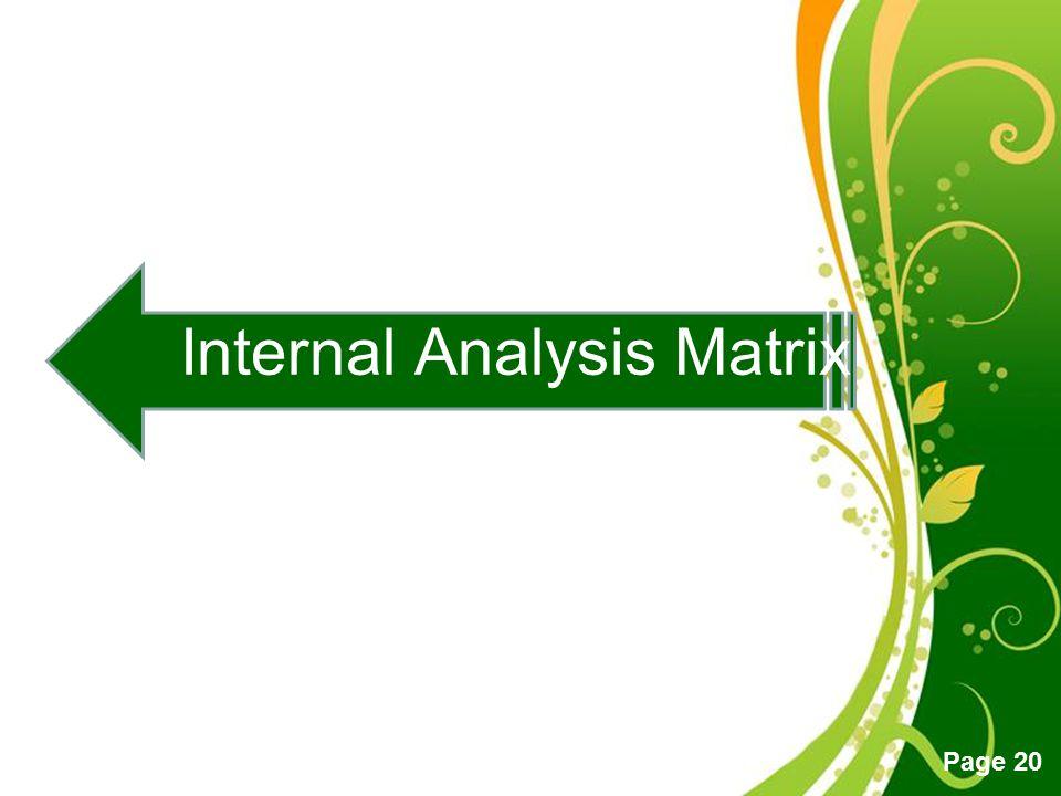 Internal Analysis Matrix