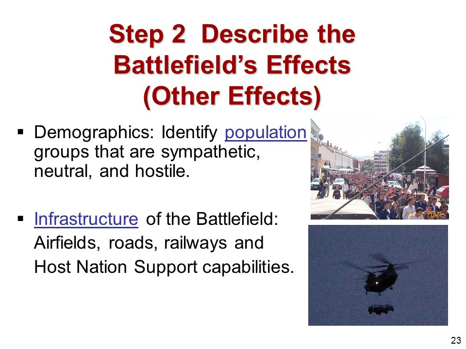 Step 2 Describe the Battlefield's Effects (Other Effects)