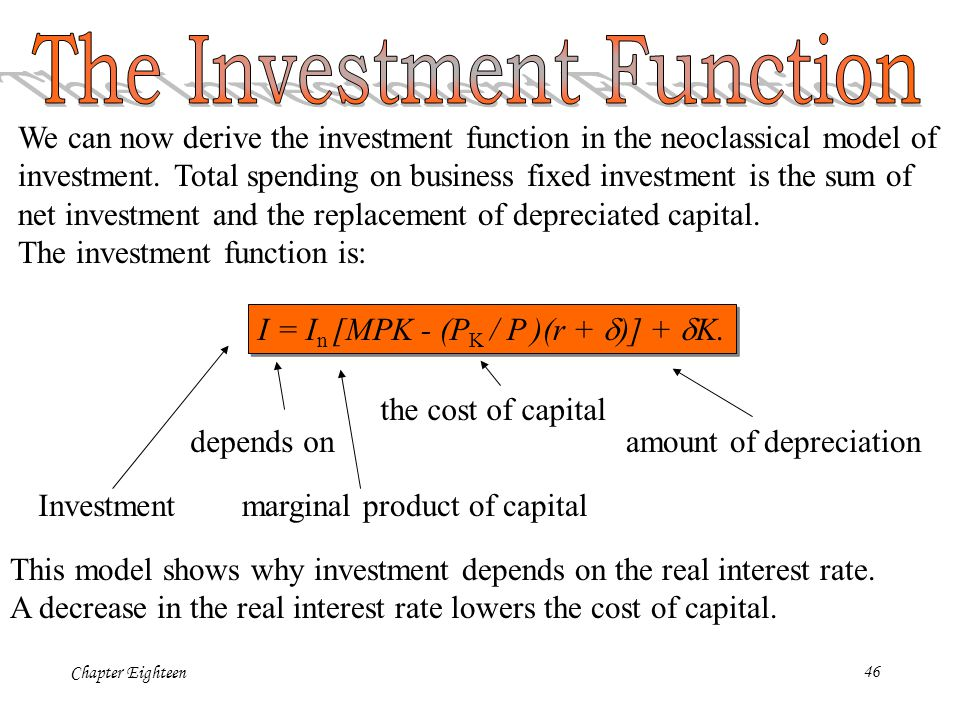 function and importance of investment spending Chapter 9 building the aggregate expenditures model  3 shifts in consumption and saving functions 57-72 4 graphs/tables: mixed consumption and saving 73-109 5 investment demand 110-141 6  consumption function/apc/mpc 1 the most important determinant of consumer spending is: a) the level of household debt b) consumer expectations.