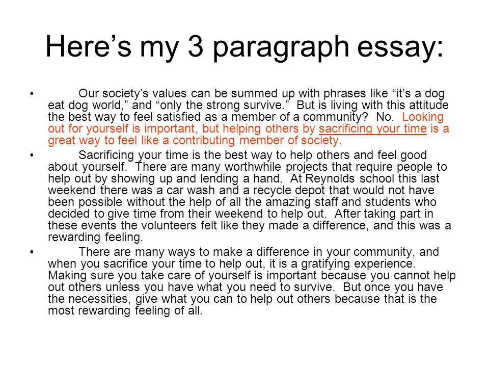 Write an essay about yourself in 3 paragraph