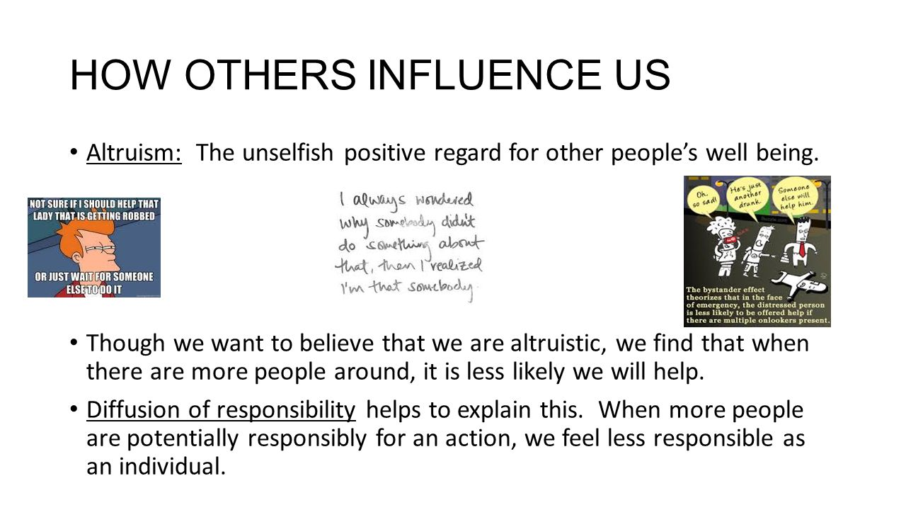 how social influence affects beliefs and behaviors Social influences on behavior a person will adjust his or her beliefs if they believe the specific behaviors of social influences are.