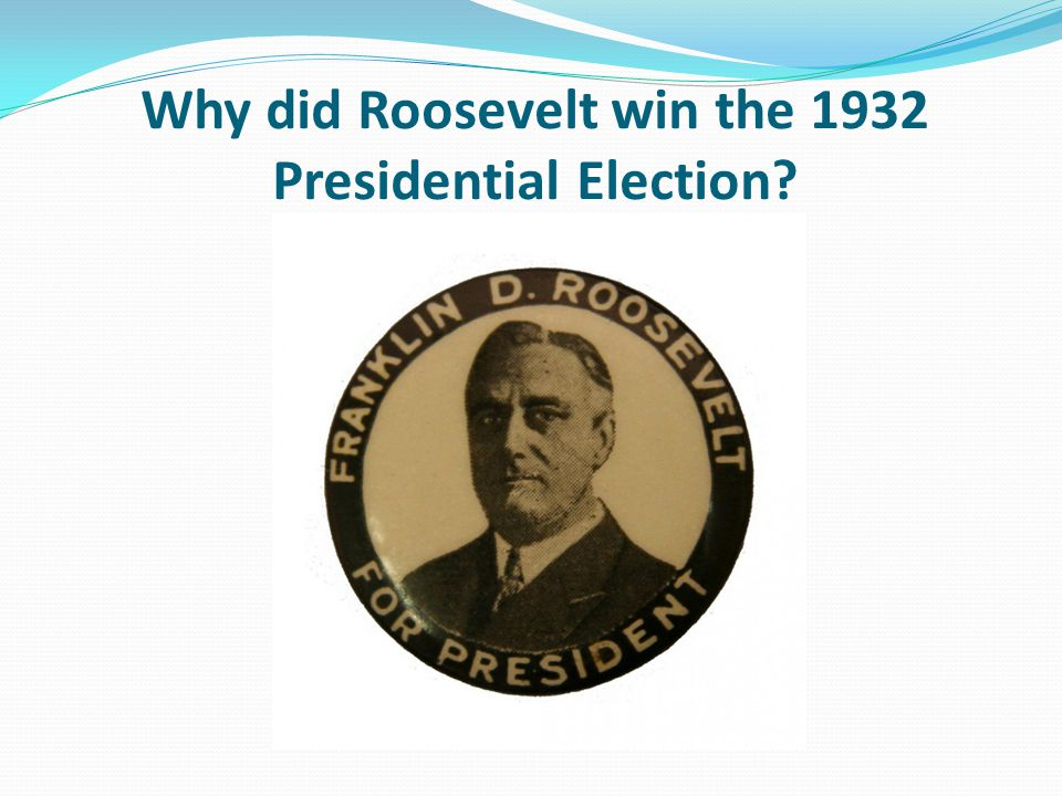 why did roosevelt win the 1932 'in hoover we trusted, now we are busted' needless to say, hoover lost the 1932  election due to widespread poverty and was replaced by the democratic.