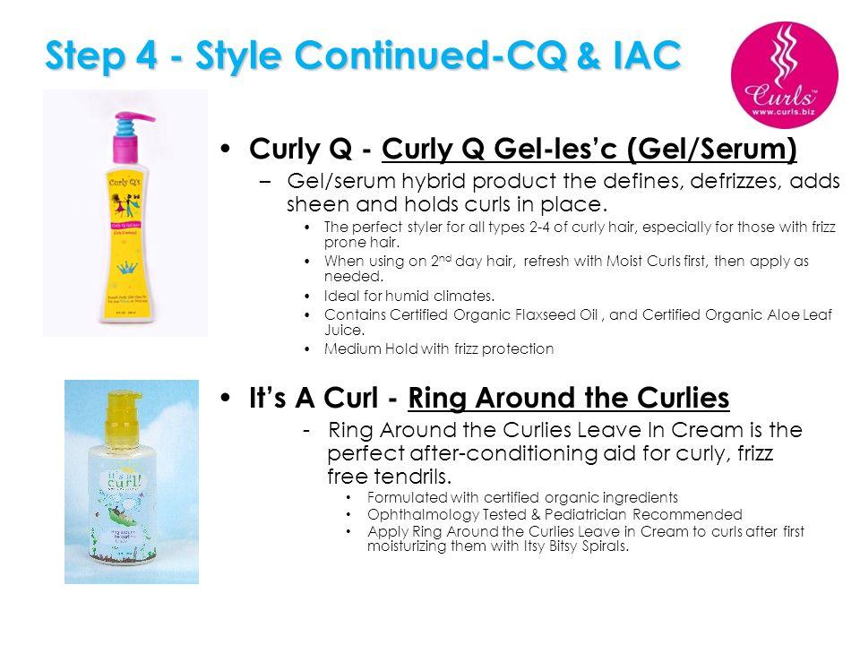 Step 4 - Style Continued-CQ & IAC
