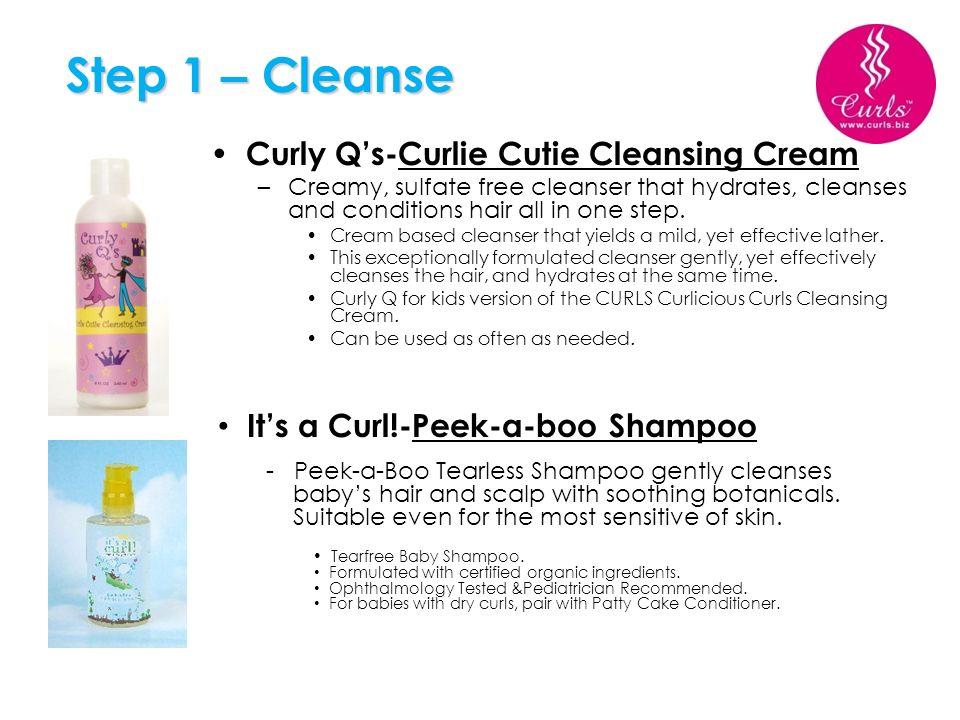 Step 1 – Cleanse Curly Q's-Curlie Cutie Cleansing Cream