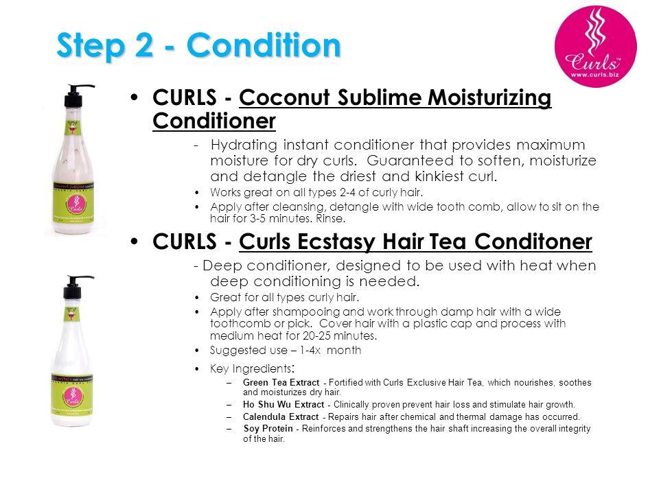 Step 2 - Condition CURLS - Coconut Sublime Moisturizing Conditioner