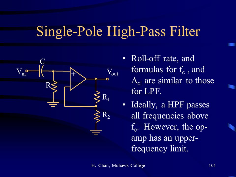 Single-Pole High-Pass Filter