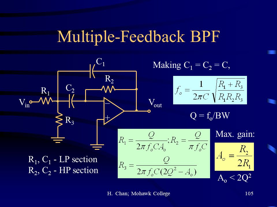 Multiple-Feedback BPF