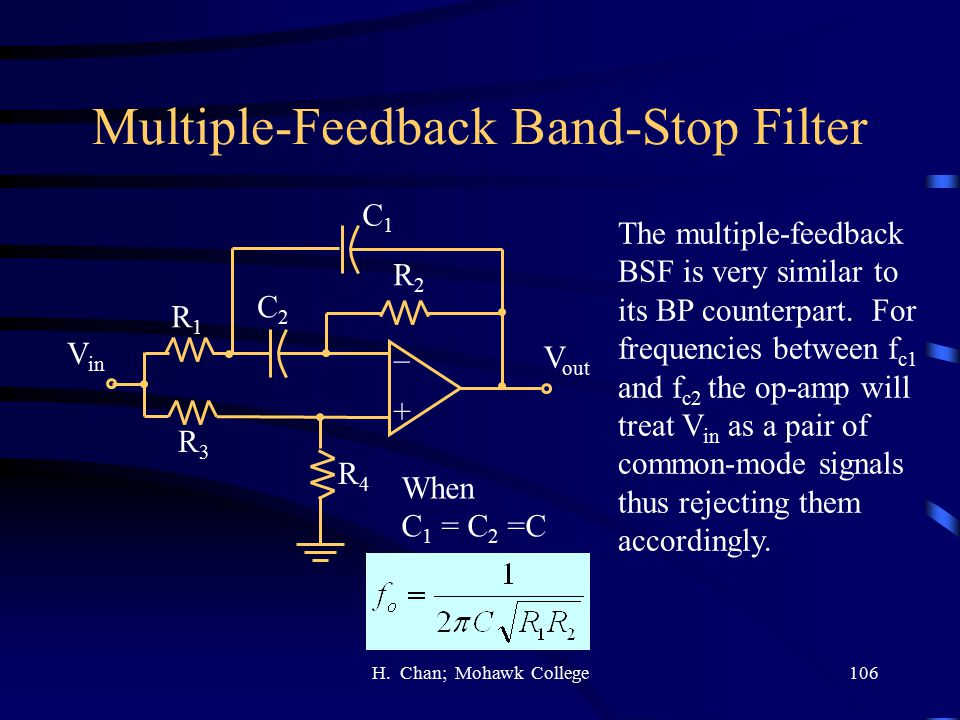 Multiple-Feedback Band-Stop Filter