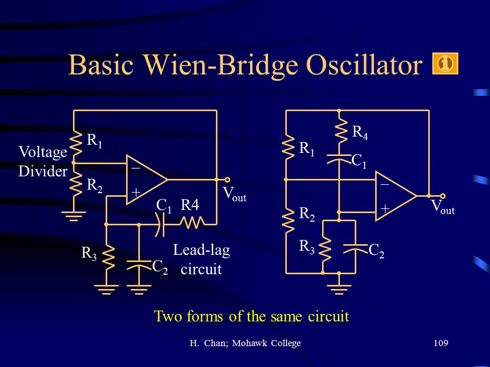 Basic Wien-Bridge Oscillator