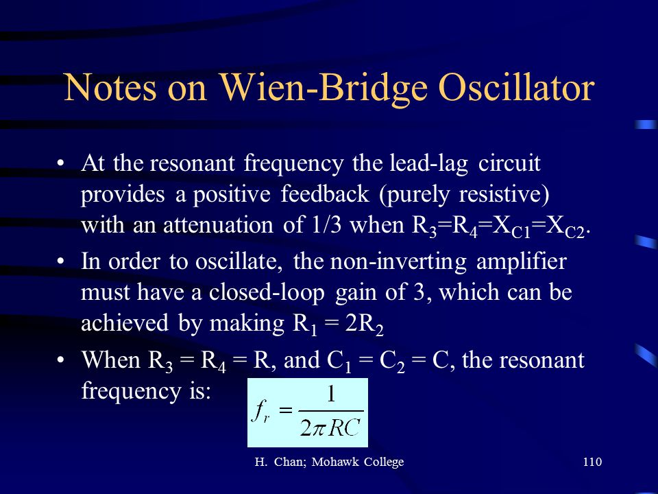 Notes on Wien-Bridge Oscillator