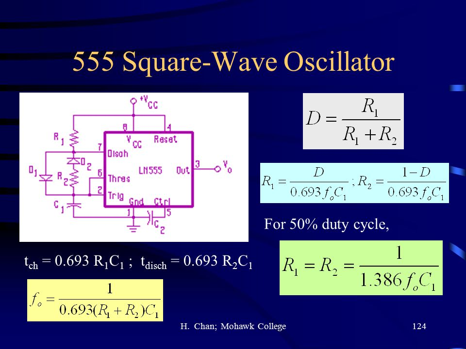 555 Square-Wave Oscillator