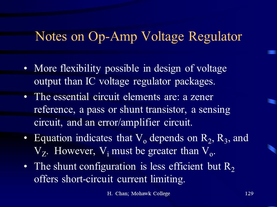 Notes on Op-Amp Voltage Regulator