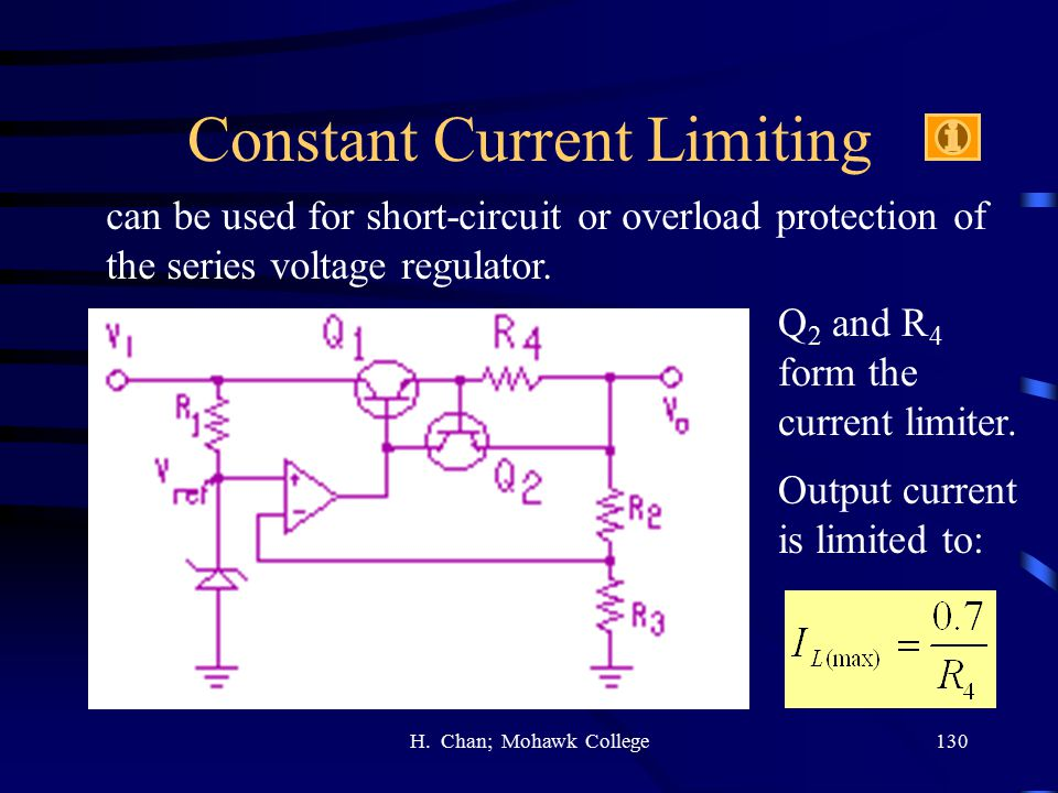 Constant Current Limiting