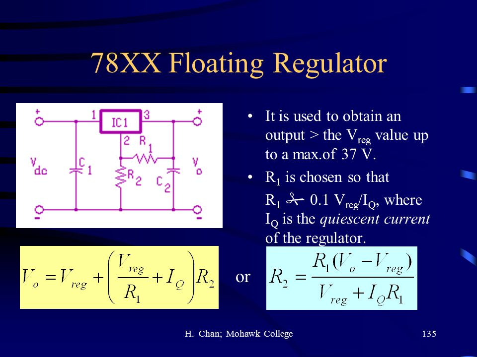 78XX Floating Regulator or