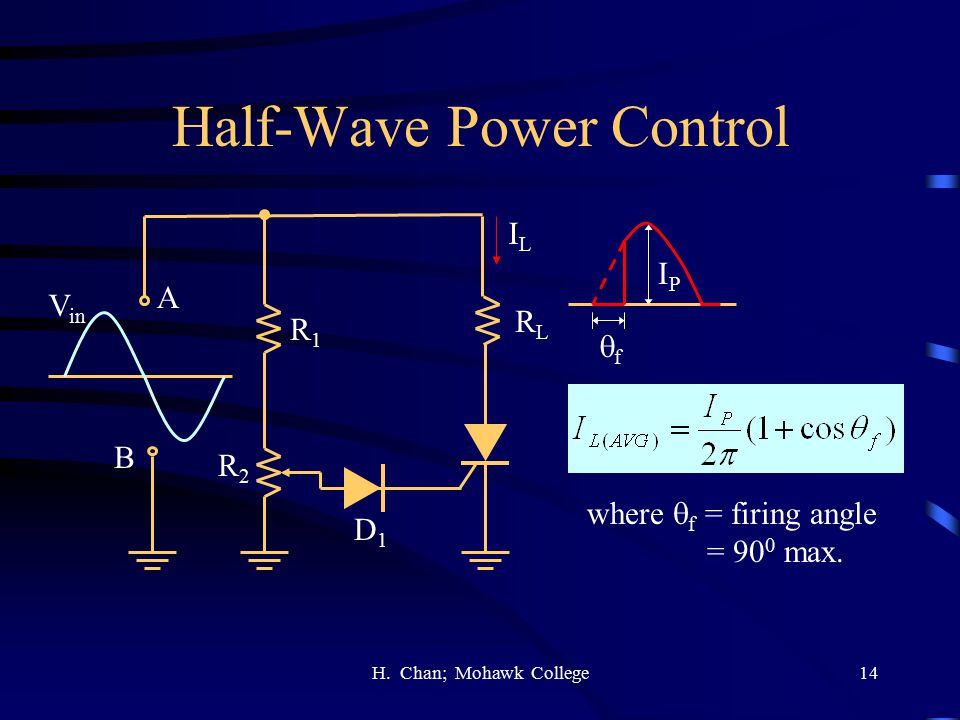 Half-Wave Power Control