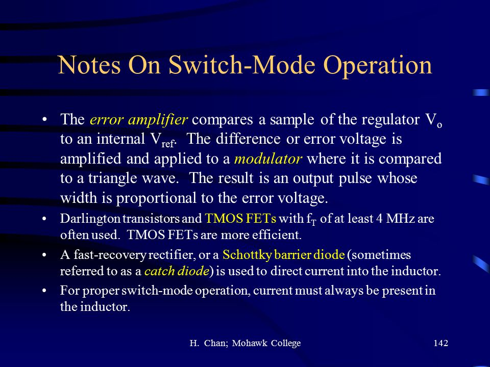 Notes On Switch-Mode Operation