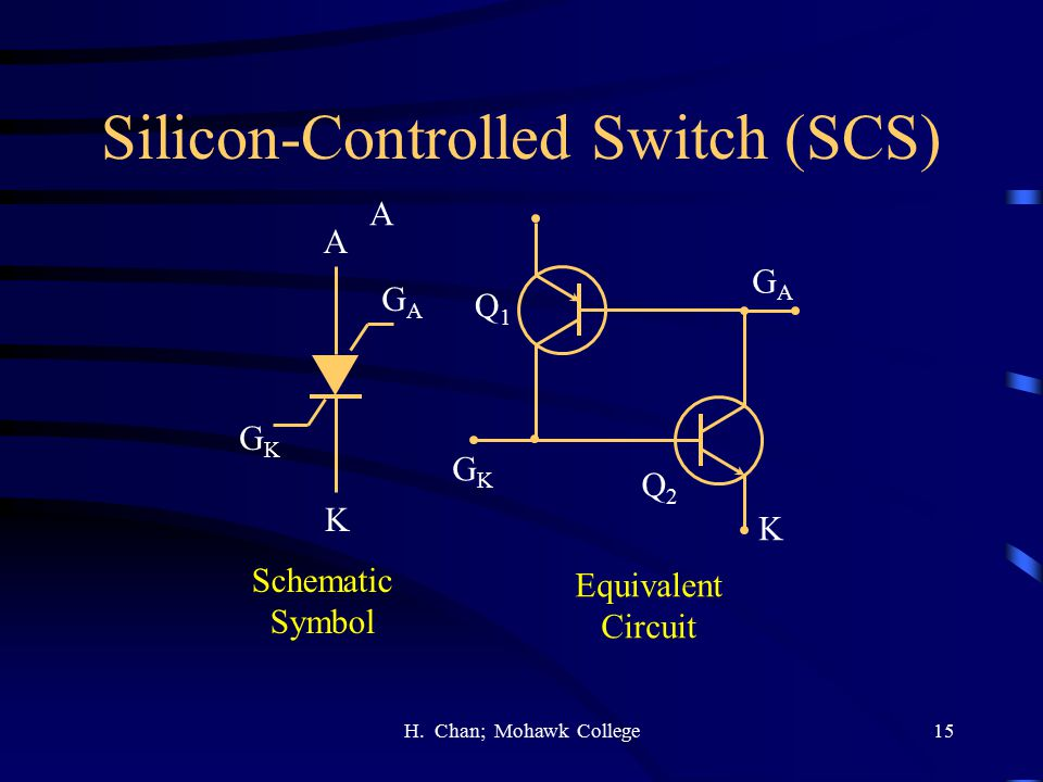 Silicon-Controlled Switch (SCS)