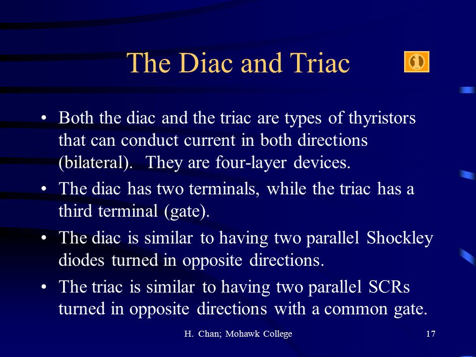 The Diac and Triac