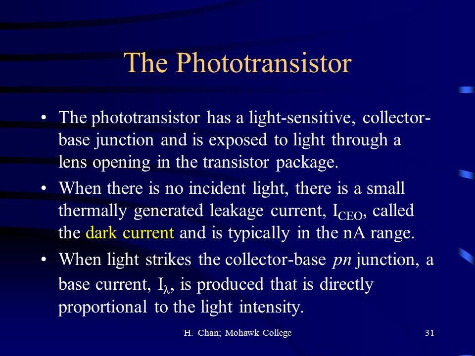The Phototransistor