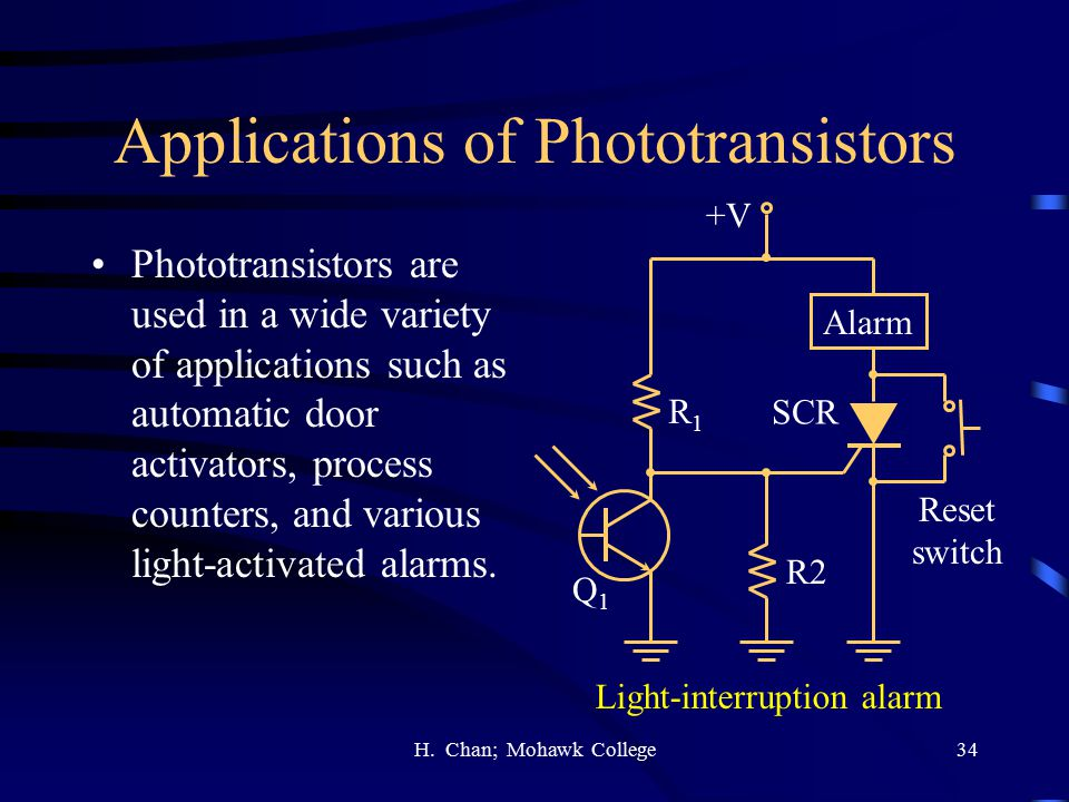 Applications of Phototransistors