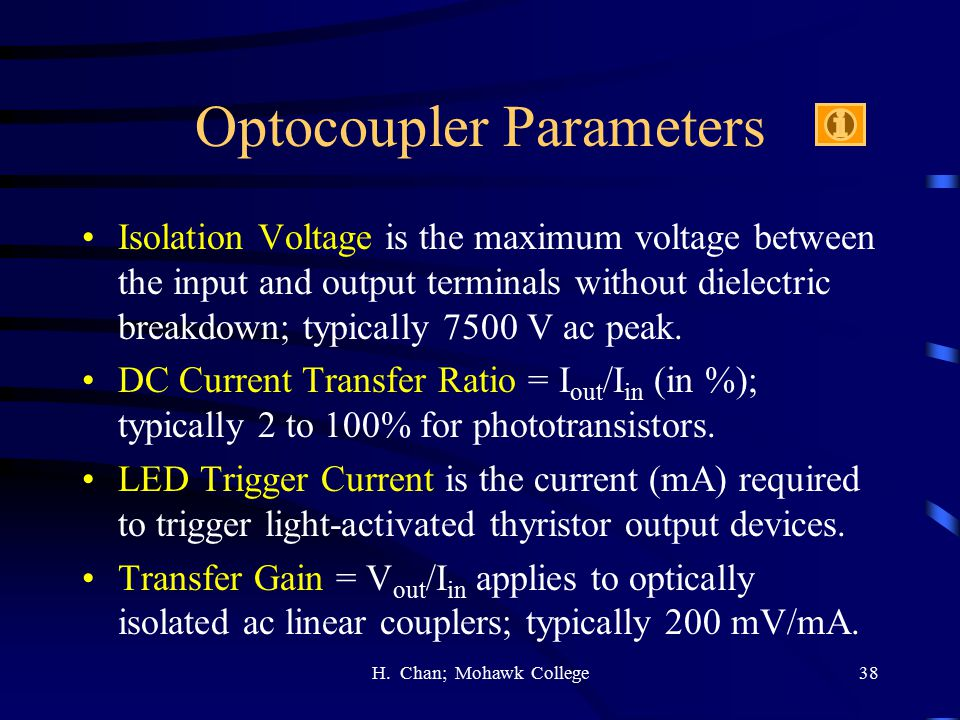 Optocoupler Parameters