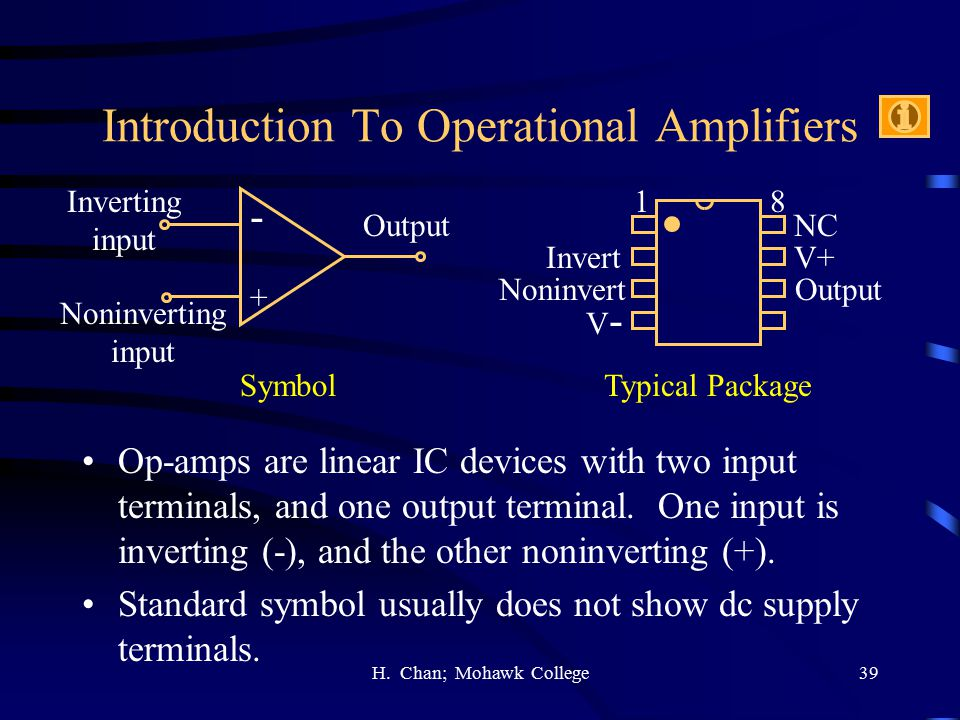 Introduction To Operational Amplifiers