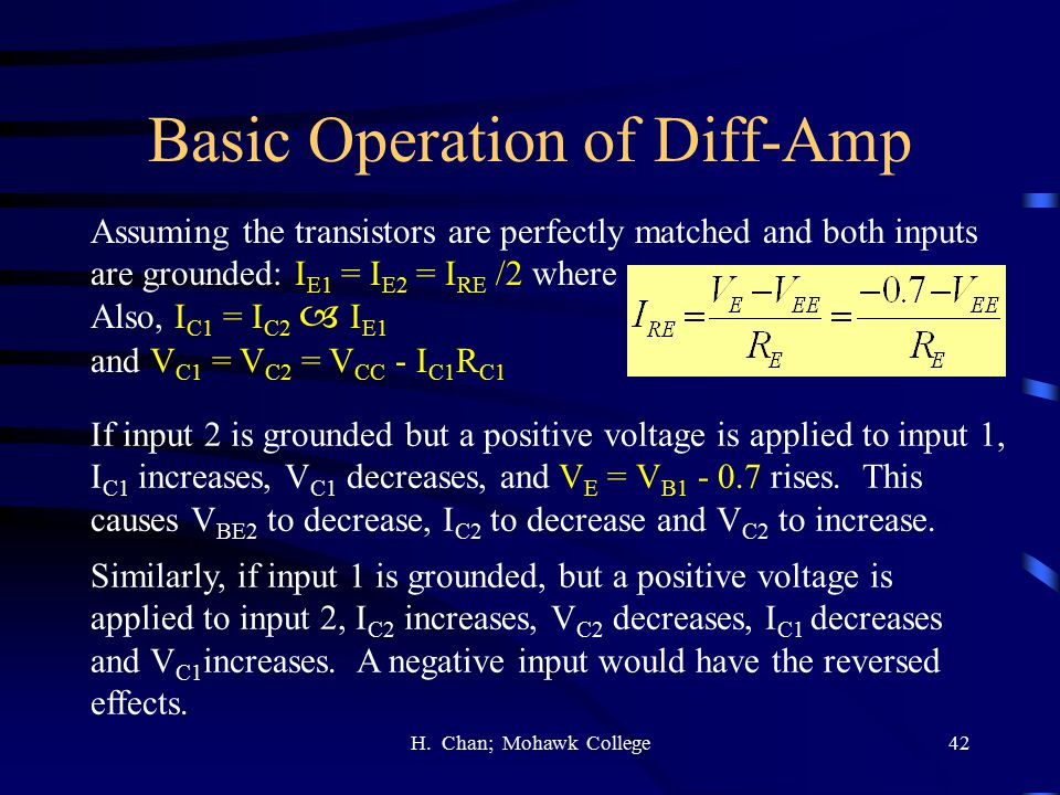 Basic Operation of Diff-Amp