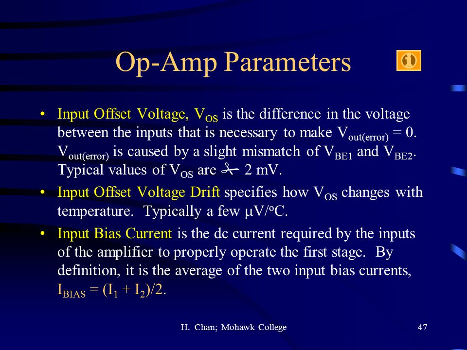 Op-Amp Parameters