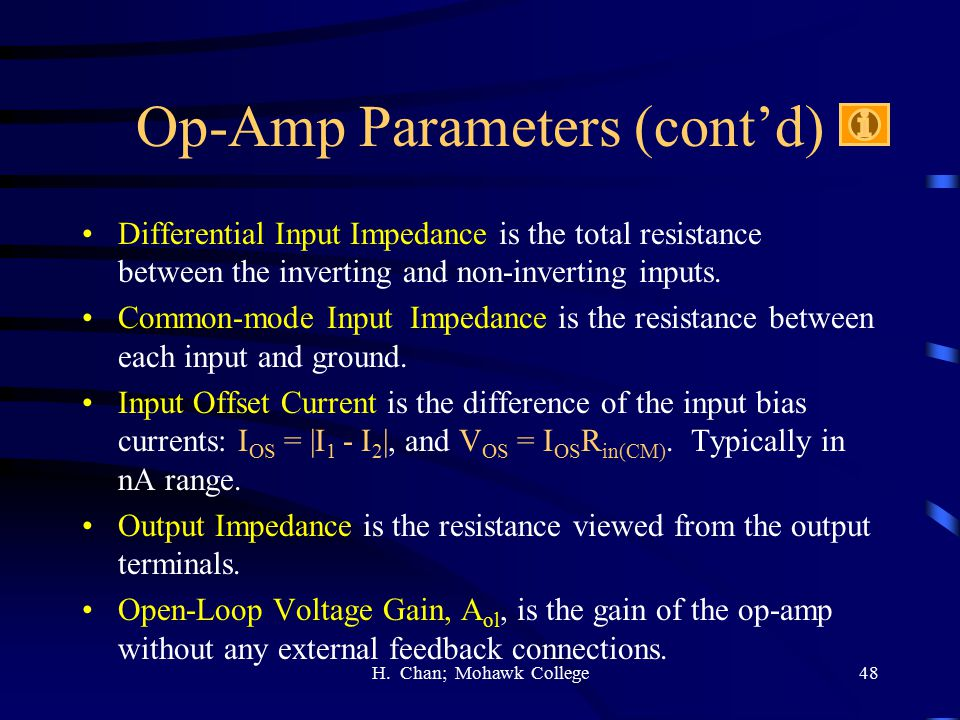 Op-Amp Parameters (cont'd)