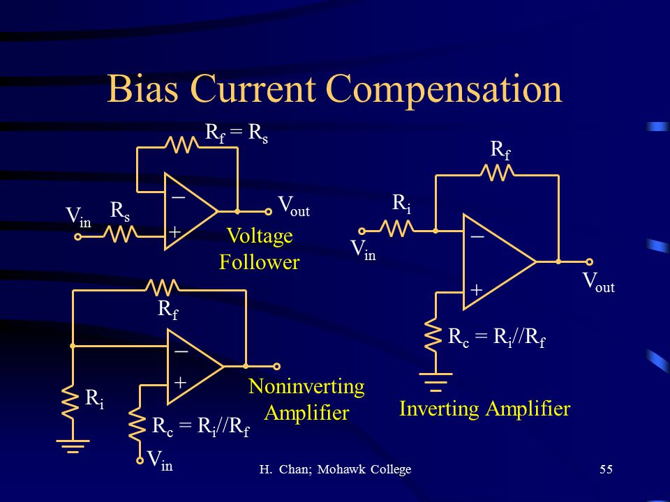 Bias Current Compensation