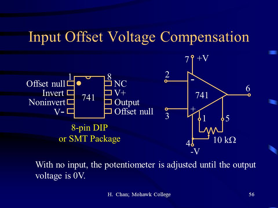 Input Offset Voltage Compensation