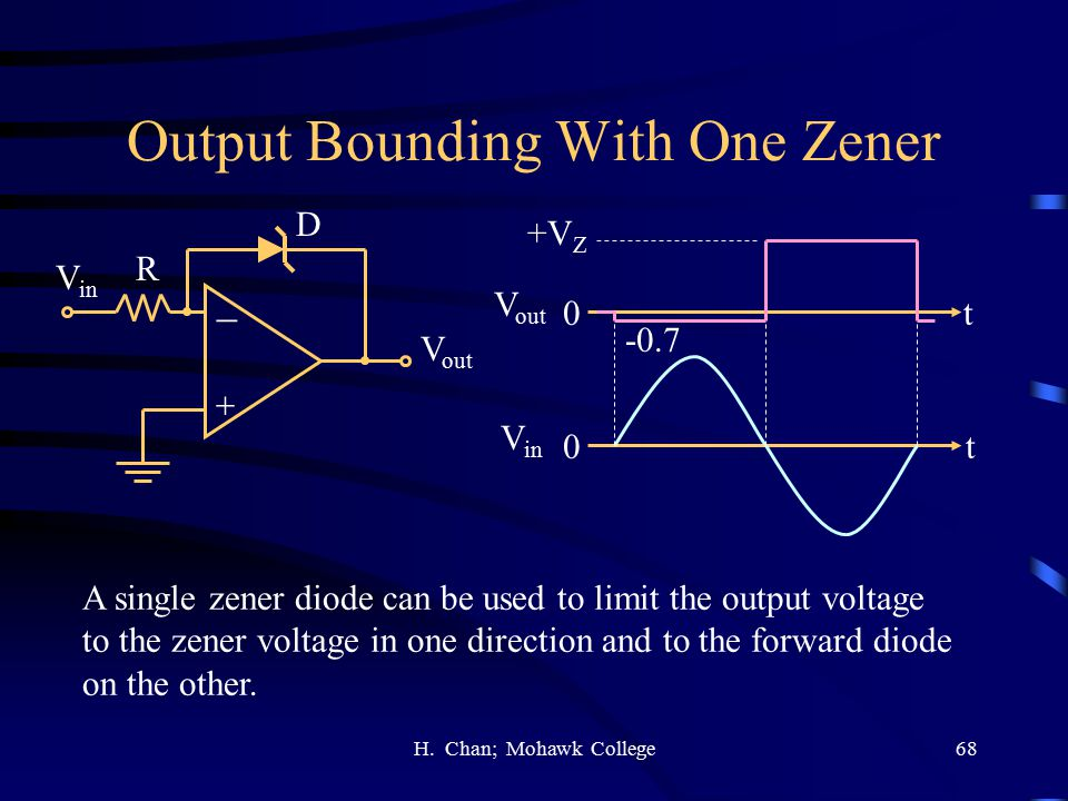 Output Bounding With One Zener