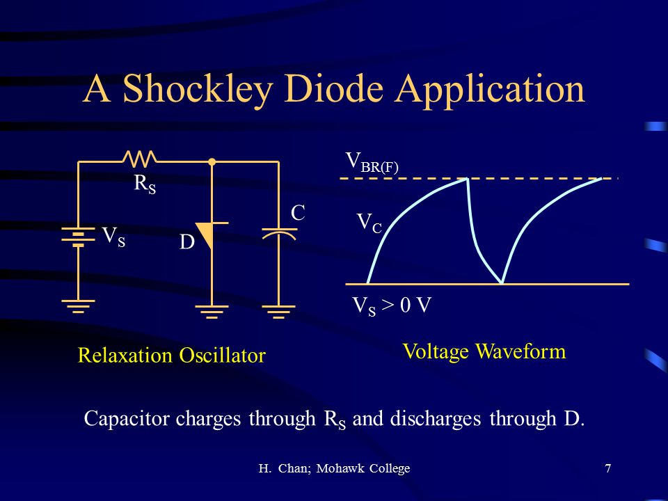 A Shockley Diode Application