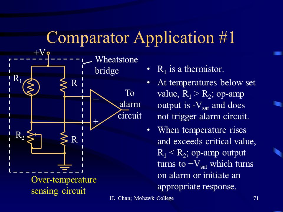 Comparator Application #1