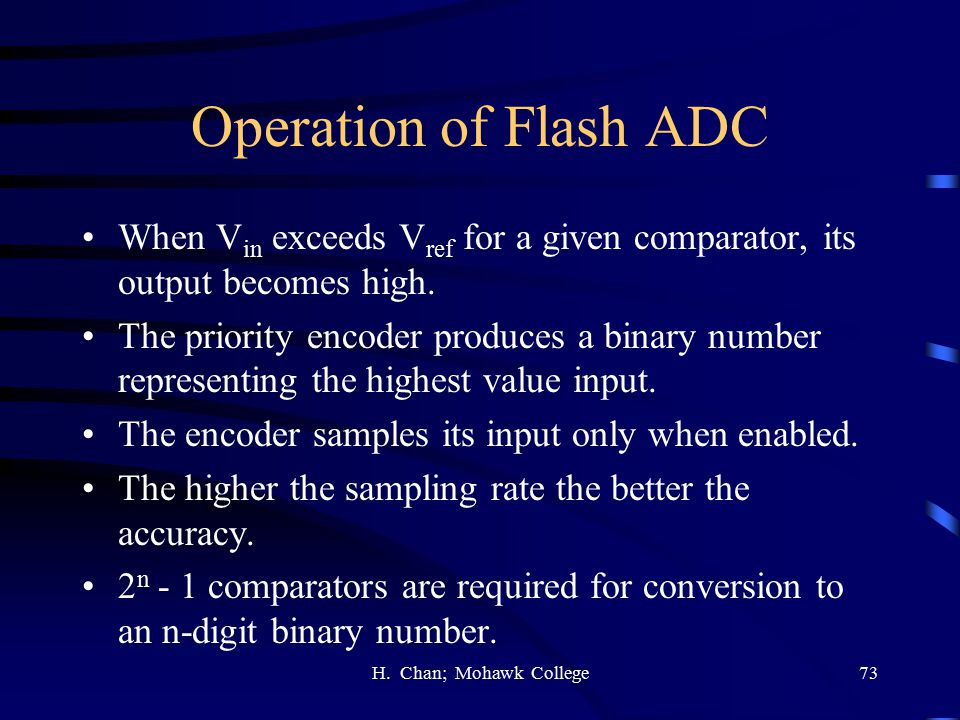 Operation of Flash ADC When Vin exceeds Vref for a given comparator, its output becomes high.
