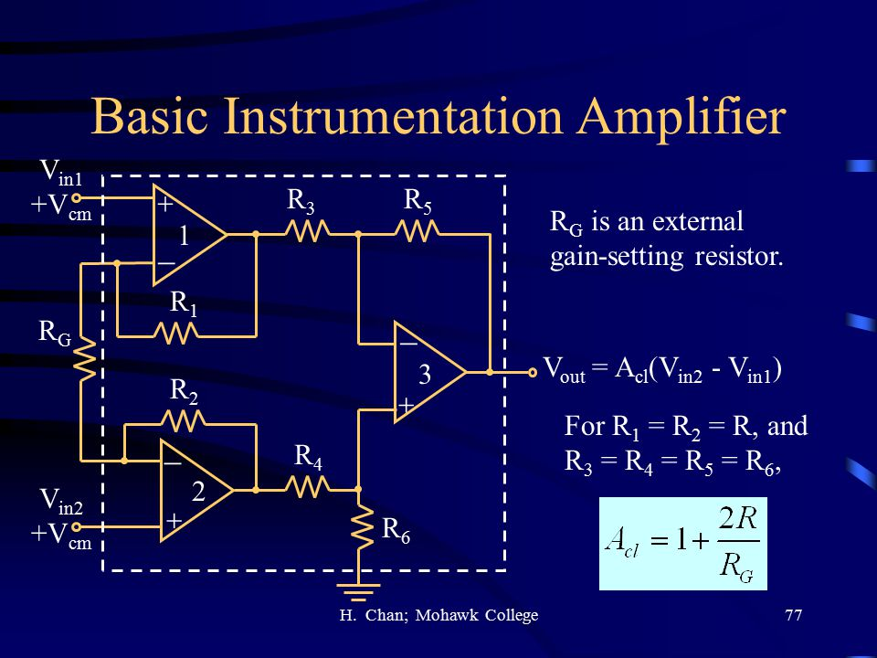 Basic Instrumentation Amplifier