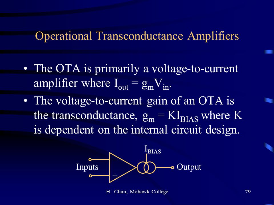 Operational Transconductance Amplifiers