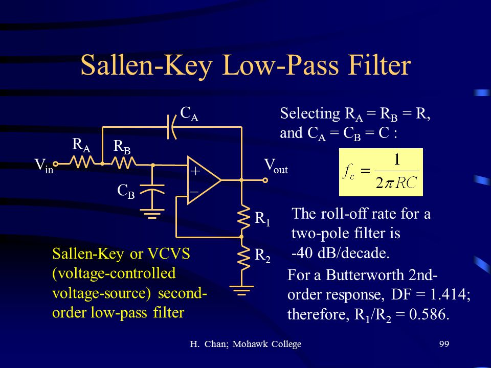 Sallen-Key Low-Pass Filter