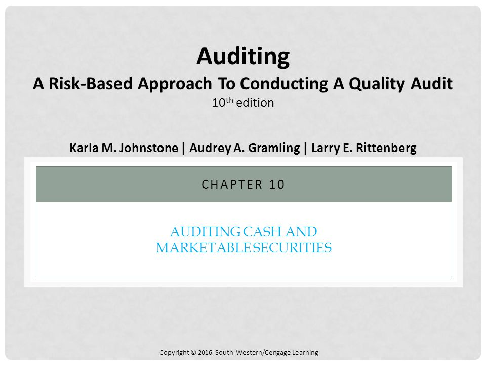 Auditing Cash and Marketable Securities