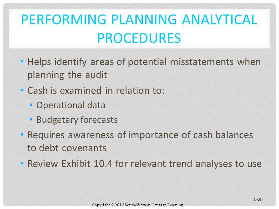 Performing planning Analytical Procedures